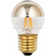 Bulbo do filamento do diodo emissor de luz do espelho 45mm 3.5W do ouro