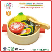Play Food Set,Kids Game,Wooden Cutting Toy