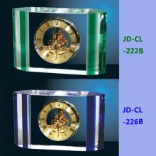 Relógio de cristal colorido com bateria seca aceita o logotipo
