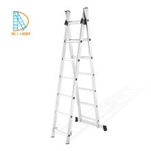 aluminum climbing ladder, 3 way metal extanble ladder