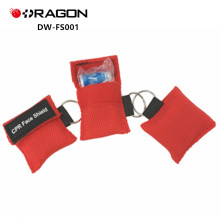 DW-FS001 máscara de CPR de emergencia con mejor clasificación Face Shield Keychain