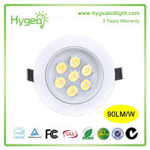 high power led Round downlight 7w gimbal led downlight 3 years warranty