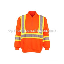 3M High visibility reflective safety fleece wholesale crewneck sweatshirt