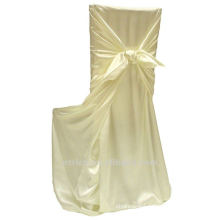 self-tie back chair cover,CT314 satin chair cover,universal chair cover