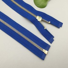 12 Inch separating brass zipper for home textile