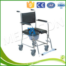Fold Up Wheelchair For Old Man Rehabilitation , Portable Commode Chair
