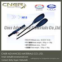 Paleta de kayak de fibra de carbono ligera para la venta