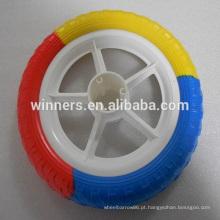 Espuma de 12 polegadas enchida roda de carrinho de bebê de plástico / roda de carrinho de bebê