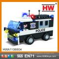 Горячие продажи творческих блоков здания 104pcs пластиковых строительных блоков полицейской машины