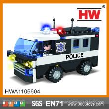 Heiße verkaufende kreative Bausteine 104pcs Plastikbaustein-Polizeiauto