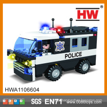 Hot Selling Creative Building Blocks 104pcs plastic building block police car