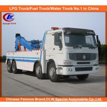 Heavy Duty 12 Wheel HOWO 351-450HP Road Wrecker Truck