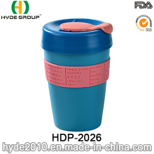 12oz Plastic Single Wall Travel Mug for coffee (HDP-2026)