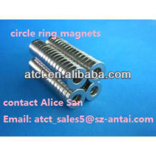 Sintered Rare earth round ring magnet
