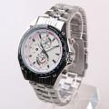 Relógio de homem de luxo, relógio traseiro de aço inoxidável de quartzo
