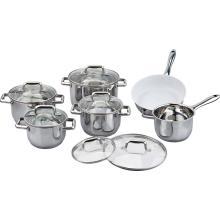 Ceramic coating 12pcs cookware set
