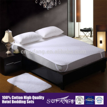 Antibiosis 100% cotton white quilted waterproof mattress cover maTtress protector