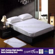 Antibiose 100% algodão branco acolchoado protetor de colchão capa de colchão impermeável