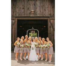 A-line Floor Length Sweetheart Satin Cheap Country Bridemaid Dress Wedding Guest Dresses DB083