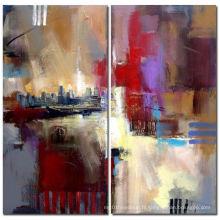Peinture à l'huile abstraite moderne à la main originale