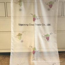 Tela de la cortina del bordado del voile del diseño de la fruta, tela escarpada