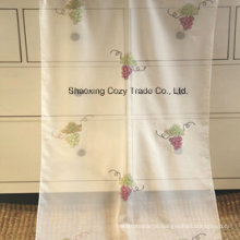 Fruit Design Tecido de cortina bordado Voile, Tecido transparente