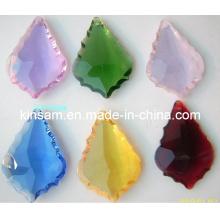 Petites pièces de lustre en cristal coloré
