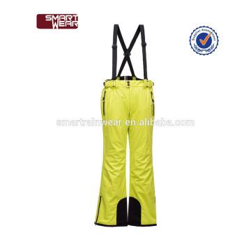 Personalizado 100% poliéster elástico cinto de Alta qualidade respirável à prova de vento inverno à prova d 'água Isolada warmup Calça De Esqui