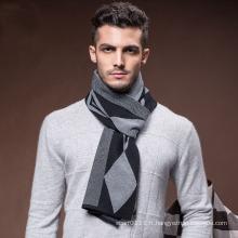 Nouvelle écharpe d'hiver tissée acrylique en nylon de laine de mode des hommes (YKY4615)