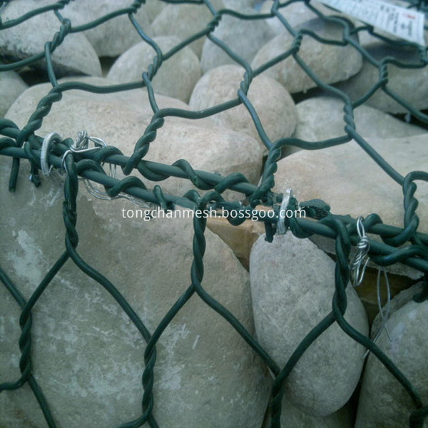 powder coated wire mesh gabion basket