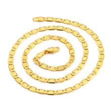 Collier homme avec plaqué or