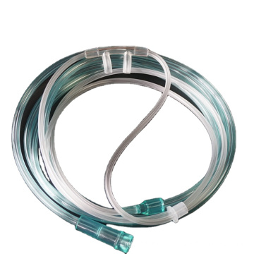 Types of nasal nares oxygen cannula catheter with universal connector