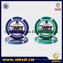 14G 3-Tone Wpt Injeção Clay Poker Chip com Adesivos Personalizados (SY-E31)