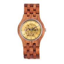 Reloj de pulsera de alta calidad Hlw083 OEM de madera y reloj de pulsera de bambú para hombres