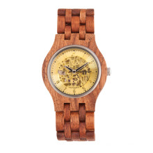 Hlw083 OEM Men′s and Women′s Wooden Watch Bamboo Watch High Quality Wrist Watch