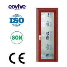 Varios estilos tamaño estándar PVC aluminio aleación marco puerta de cristal