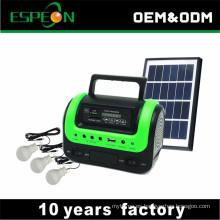 Sistema de kit de iluminación solar fuera de la red con función de radio MP3
