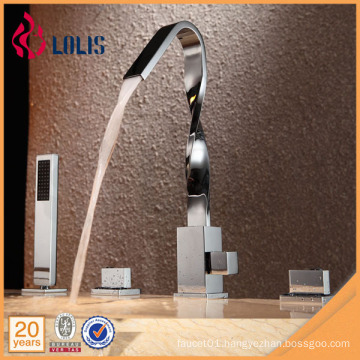 New design bathtub faucet waterfall with handheld shower head