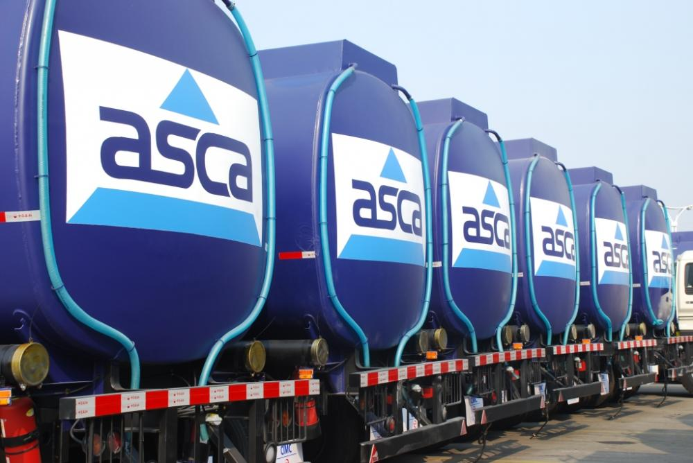 60KL CARBON STEEL FUEL TANK SEMI-TRAILER