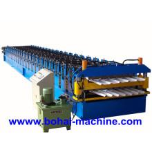 Bh Rodillo de hoja de acero de doble capa que forma la máquina
