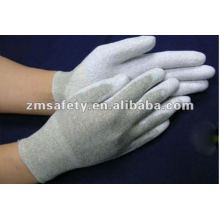 Nylon Tejido sin costuras ESD Palm Fit guante / Guante antiestático ZMR438