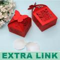 Mini forma personalizada Nueva llegada Laser Cut Wedding Souvenirs