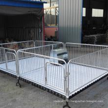 Caisse de clôture en acier de pépinière de porc