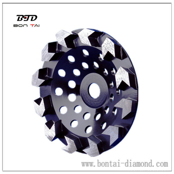 high efficient arrow segment diamond cup wheel