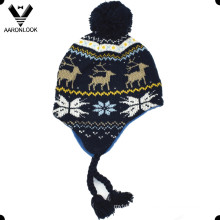 Winter Fashion Jacquard Children Earflap Hat