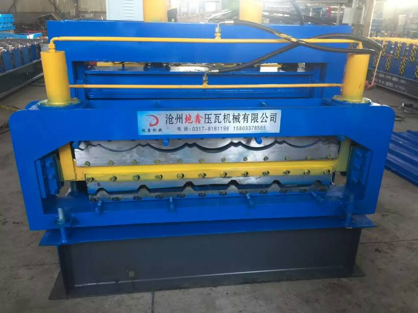 glazed double sheets forming machine