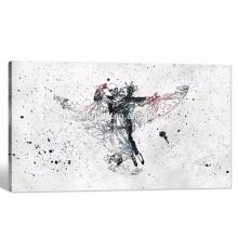 Abstrakte Kunst Malerei / Schädel Waltz Modern Leinwand drucken / Pop Kultur Stoff Wandtapeten