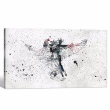 Pintura del arte abstracto / vals del cráneo Impresión moderna de la lona / pared de la cultura del arte pop Murales