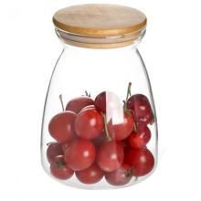 Borosilicato hermético vela jarra de vidro
