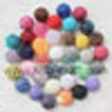 Hot Sale Mix kleur acryl Chunky Solid hars Rhinestone Ball kralen 20 * 22MM